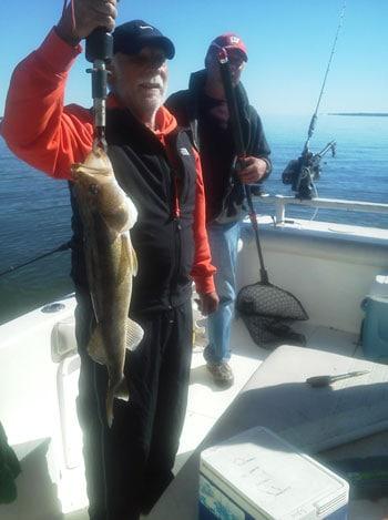 Bernie Jilek 26 inch walleye with Captain Flip