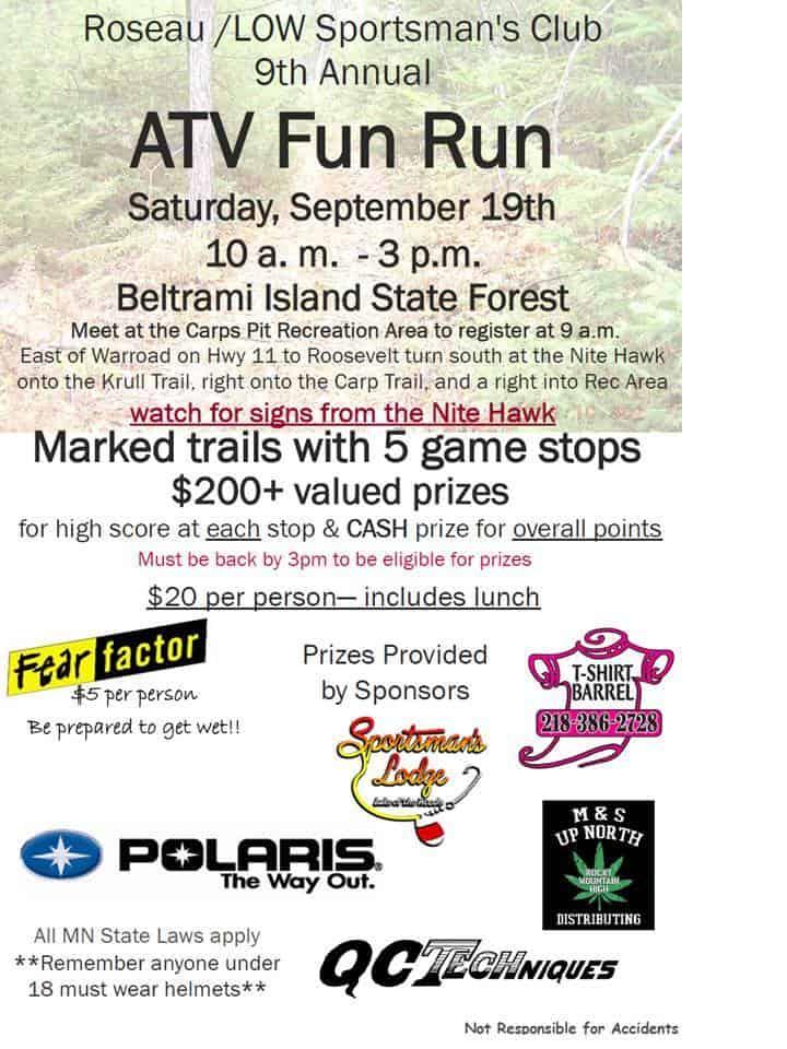 ATV Fun Run Lake of the Woods